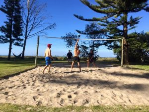 Backpacker Beach Volleyball